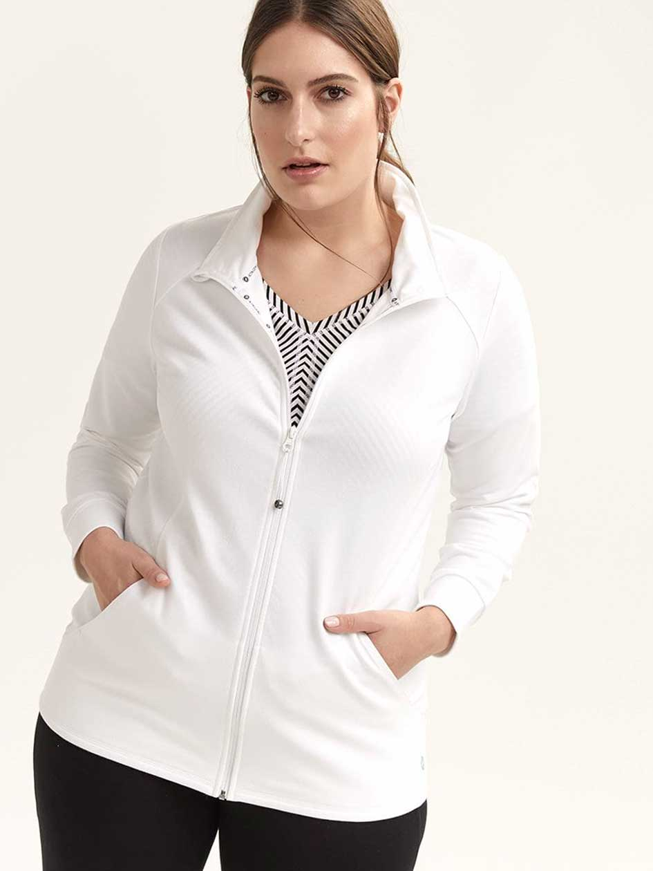4668dcac2d0 Long Sleeve Jacket with Mock Neck - ActiveZone