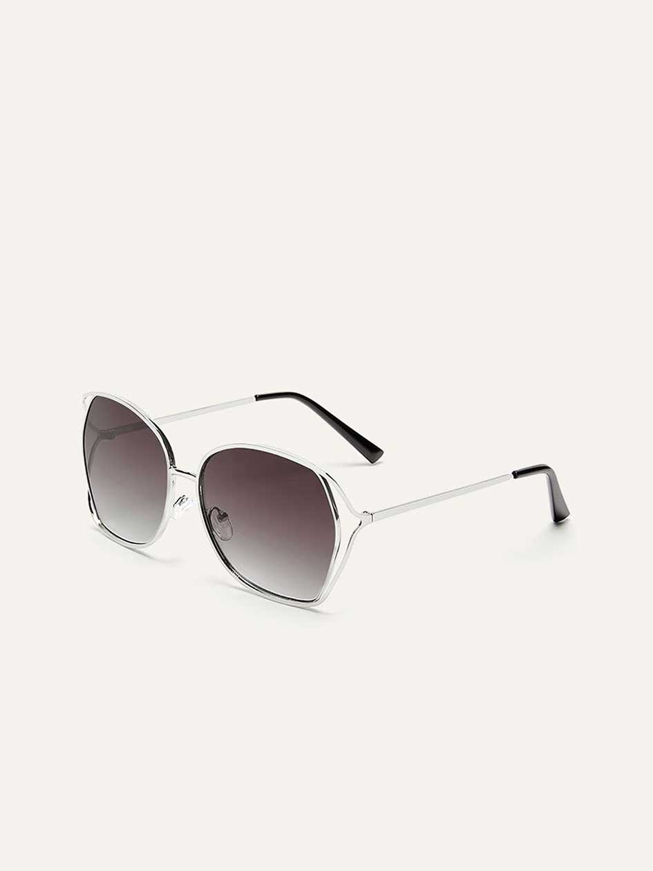 Metallic Sunglasses with Side Double Frame