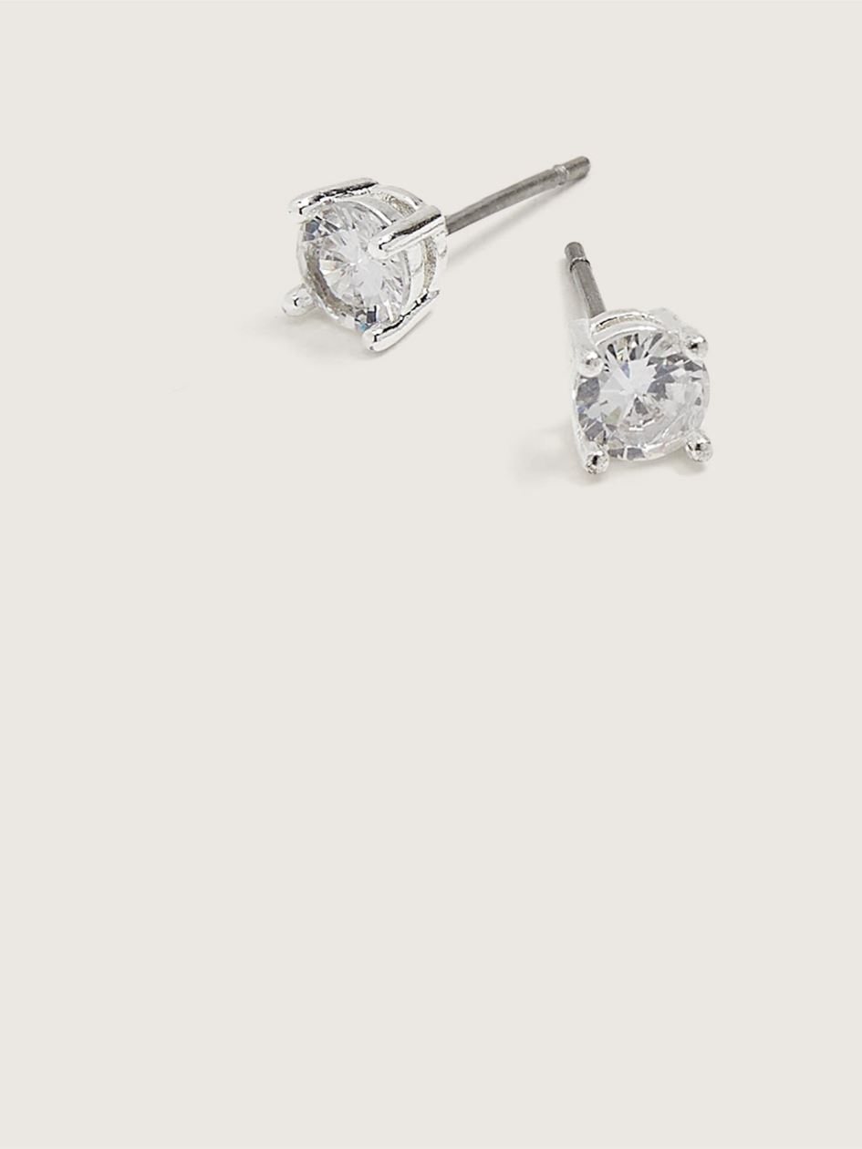 Cubic Zirconia Stud Earrings - Addition Elle