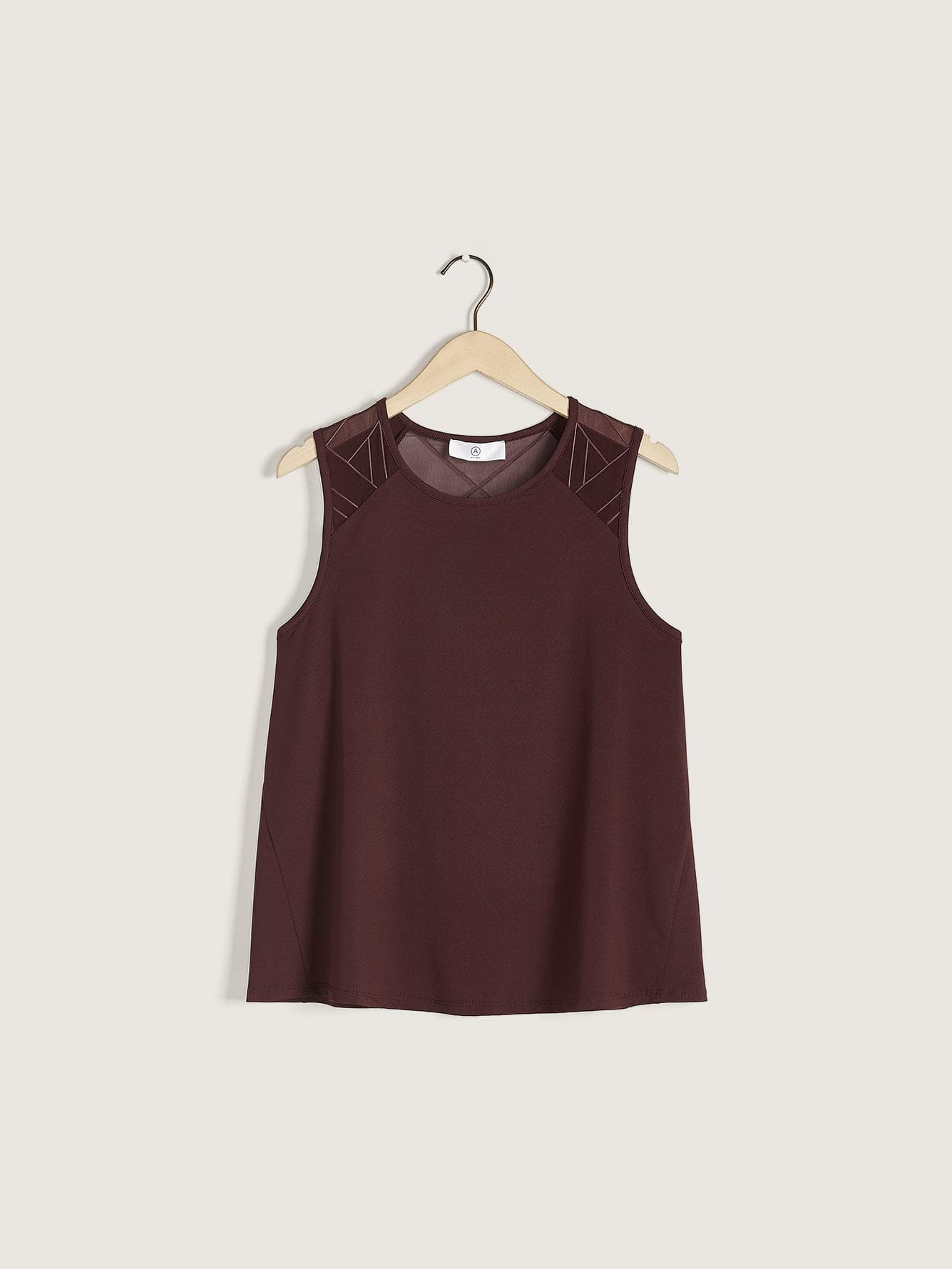 Addition Elle - Mesh & Piping Sleeveless Top