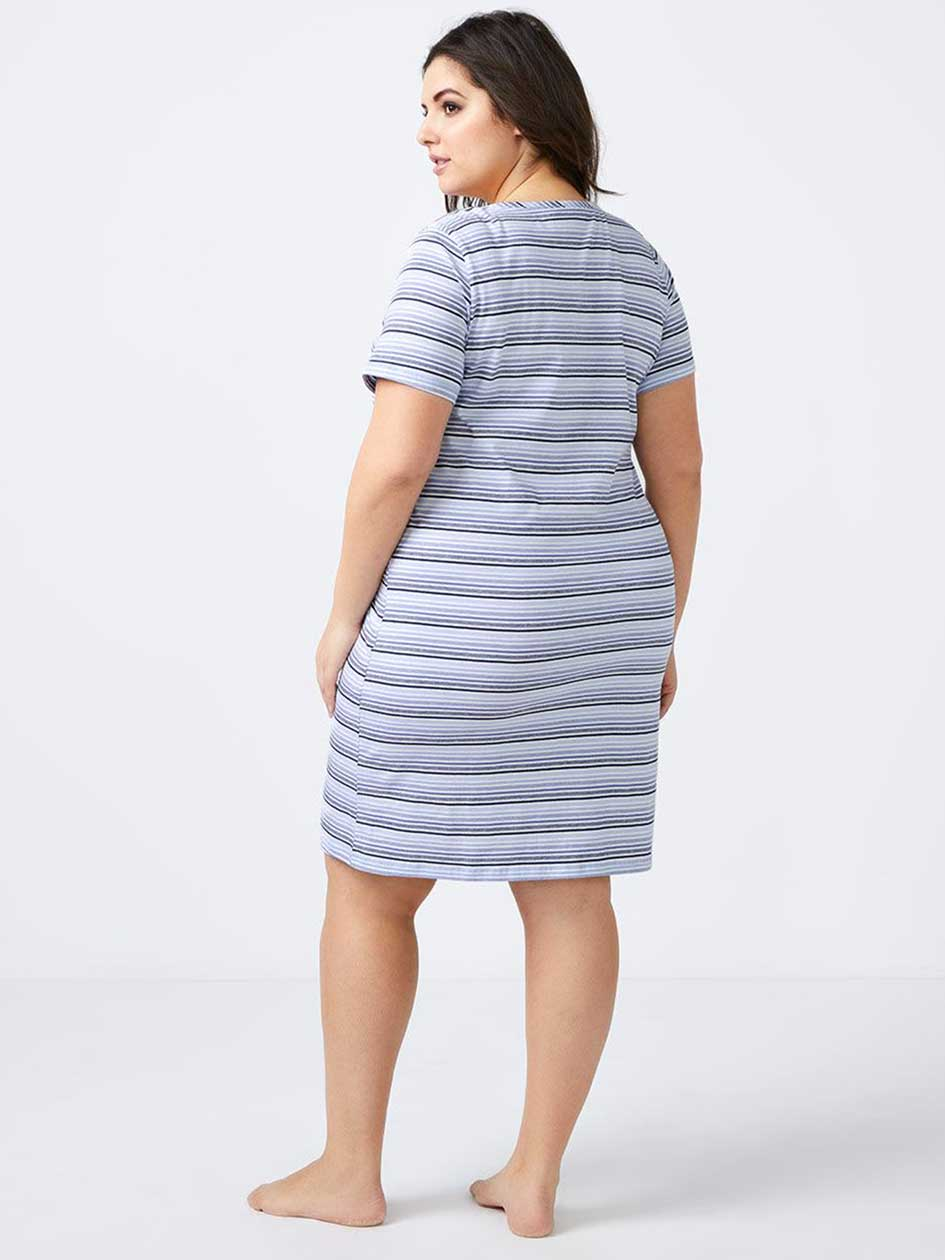 Striped Cotton Sleepshirt - ti Voglio