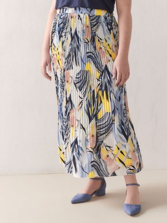 Pleated Crepe Skirt - Addition Elle