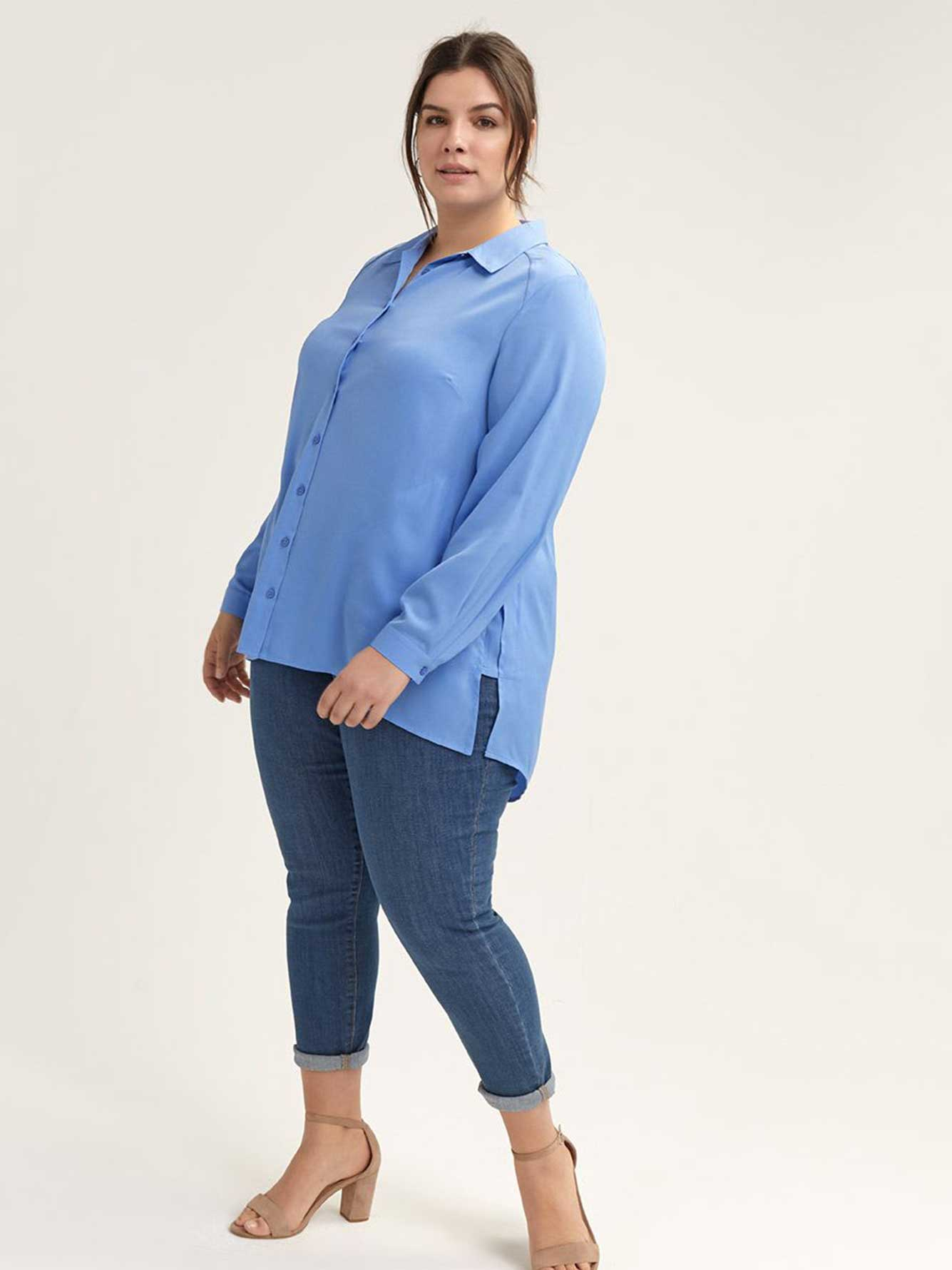 8b0d62ad67c Long Sleeve Solid High-Low Blouse - In Every Story | Penningtons