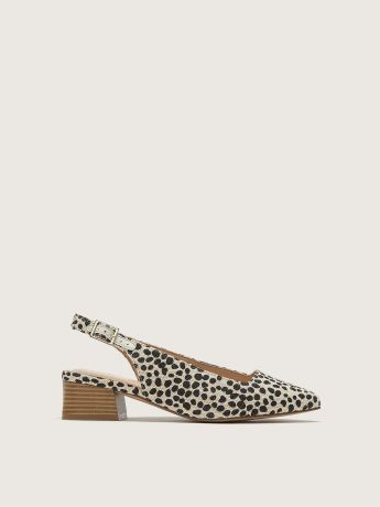 Wide Slingback Animal Print Pump - Addition Elle