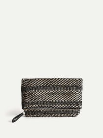 Straw Foldover Clutch