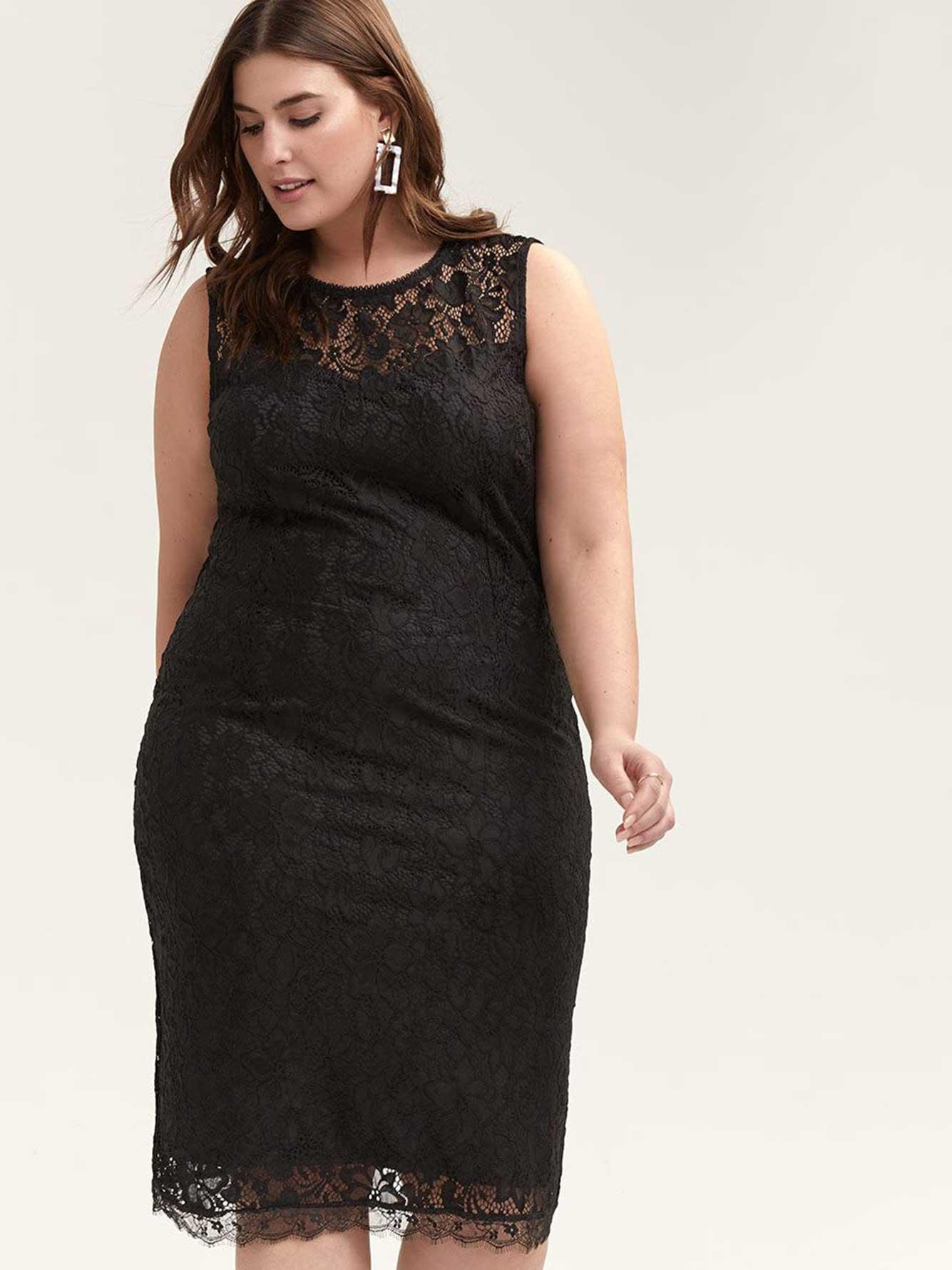 Black Lace Dress by Penningtons
