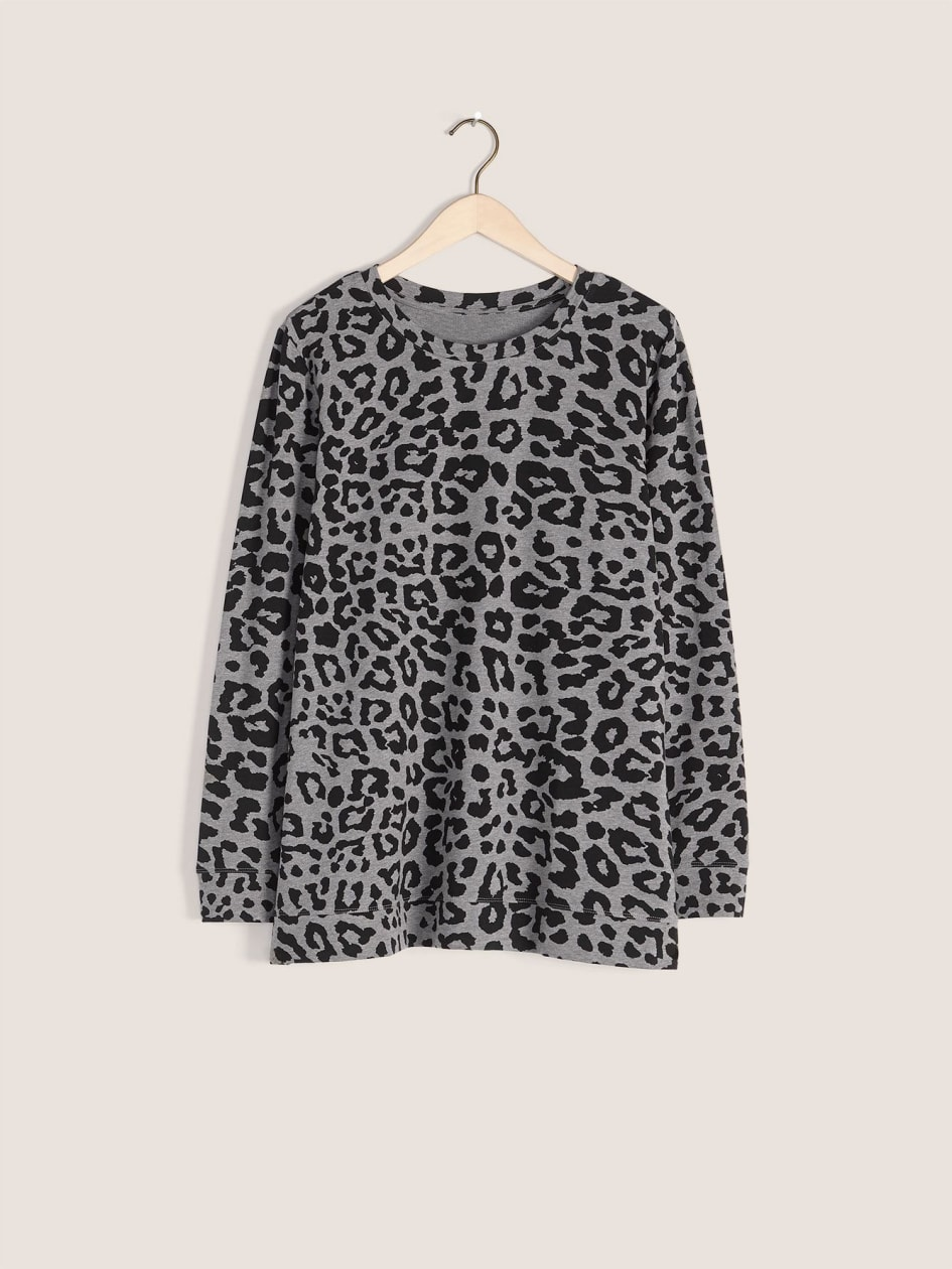 Printed French Terry Pullover Top - In Every Story