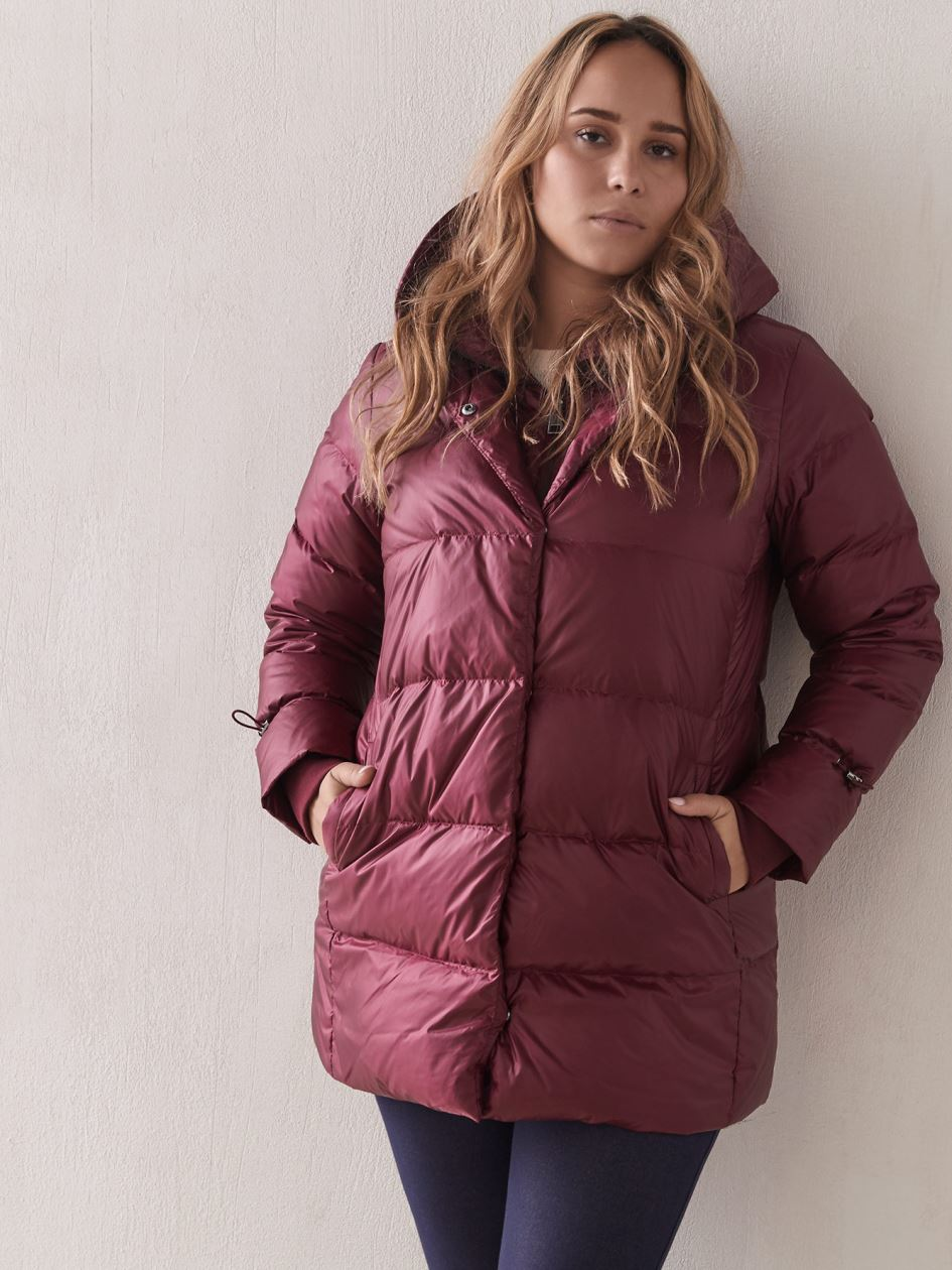 Quilted Down Puffer with Mittens - Addition Elle