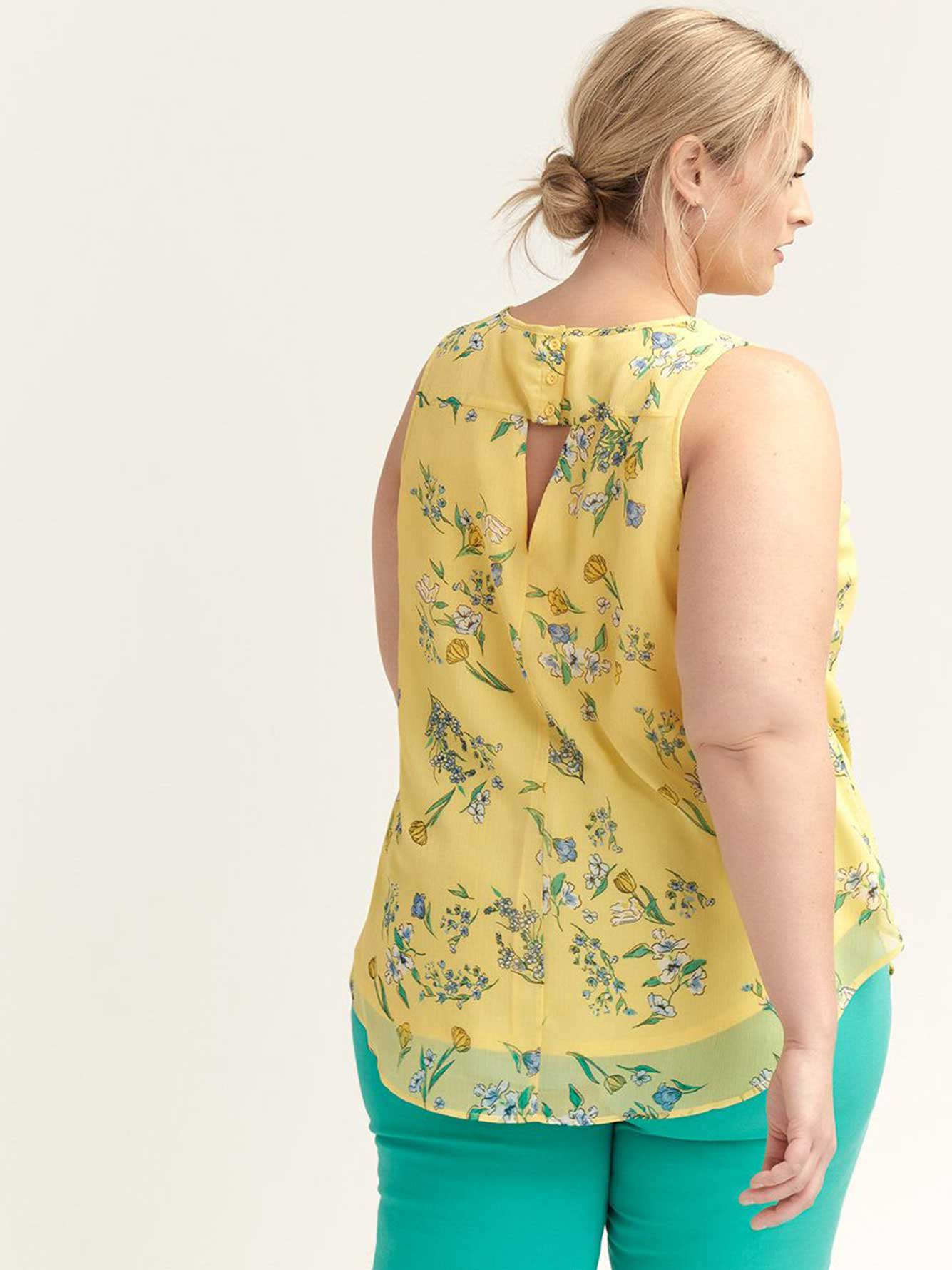 Printed Sleeveless Blouse with Open Back - d/C JEANS