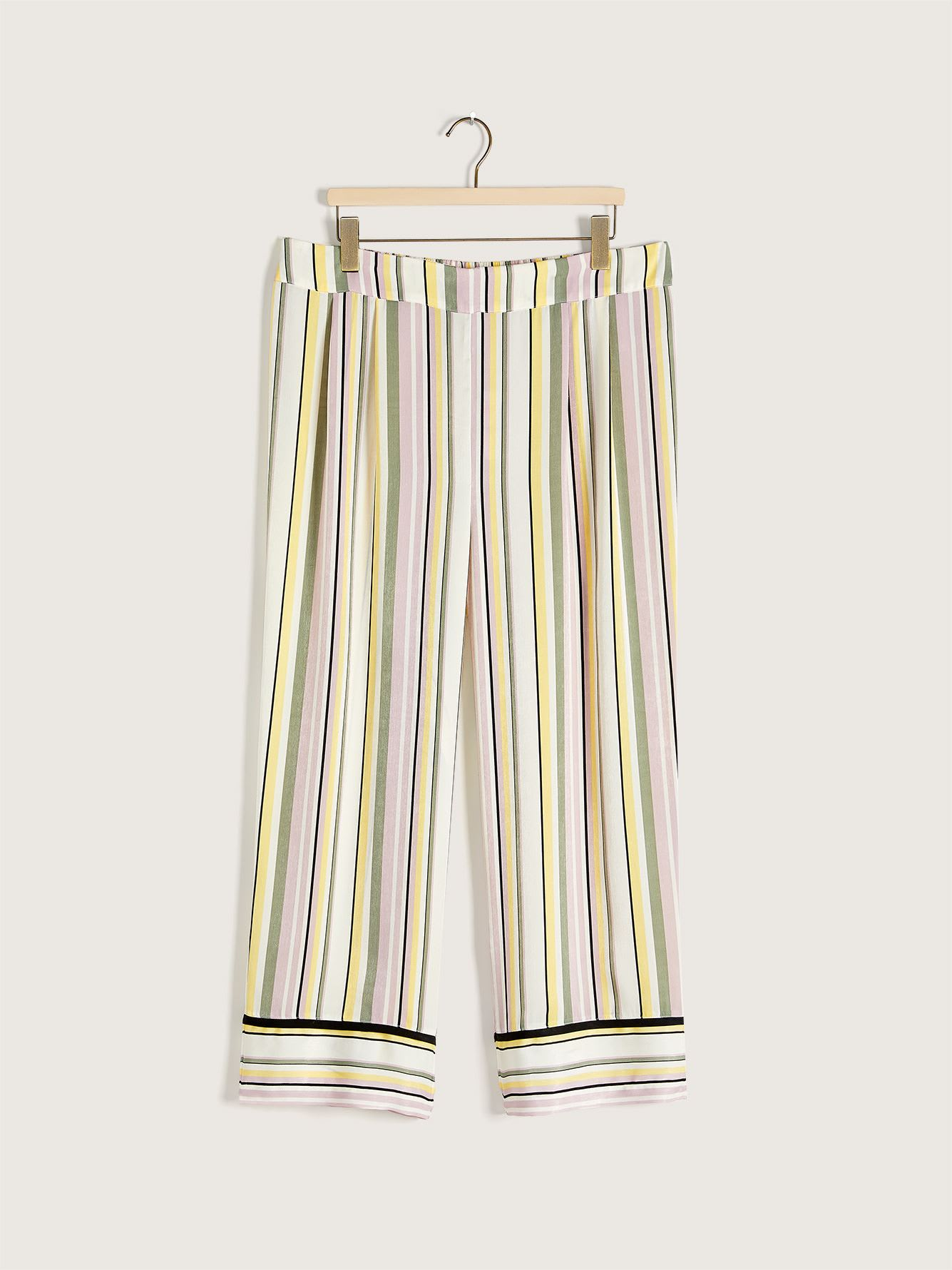 Tailored PJ Pants with Piping Detail - Addition Elle