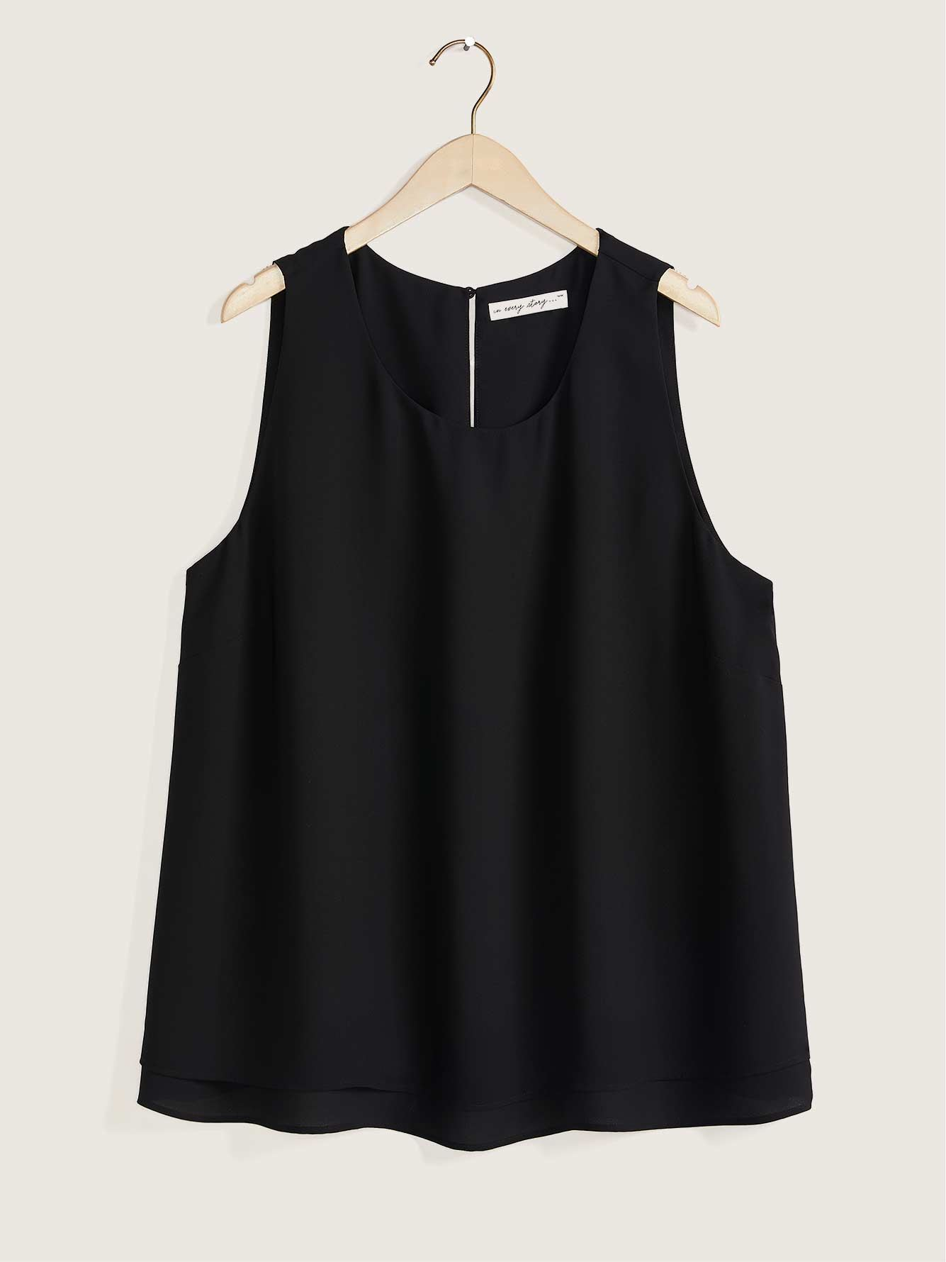 Responsible Sleeveless Blouse With Underpinning - In Every Story