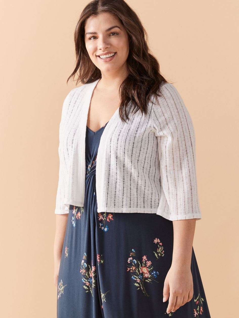 Short Elbow Sleeve V-Neck Cardigan - In Every Story