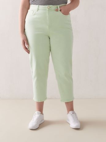 Mid-Rise Cropped Slim Leg Jeans - Addition Elle