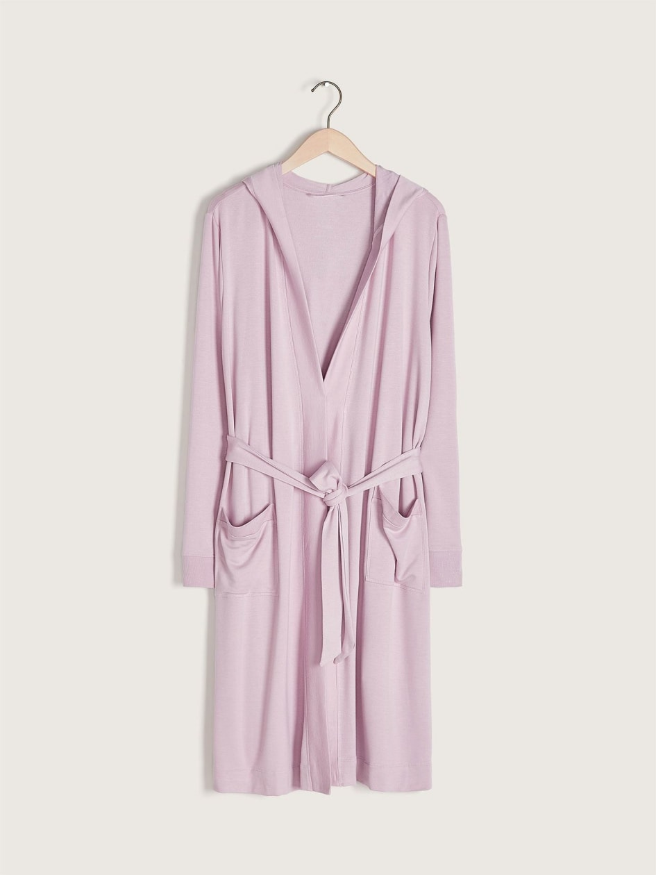 Hooded Lounge Robe - Addition Elle