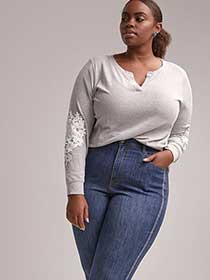 Long Sleeve Top with Crochet - d/C JEANS