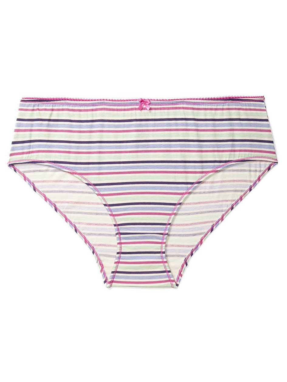 Ti Voglio Striped Cotton Hipster Panty