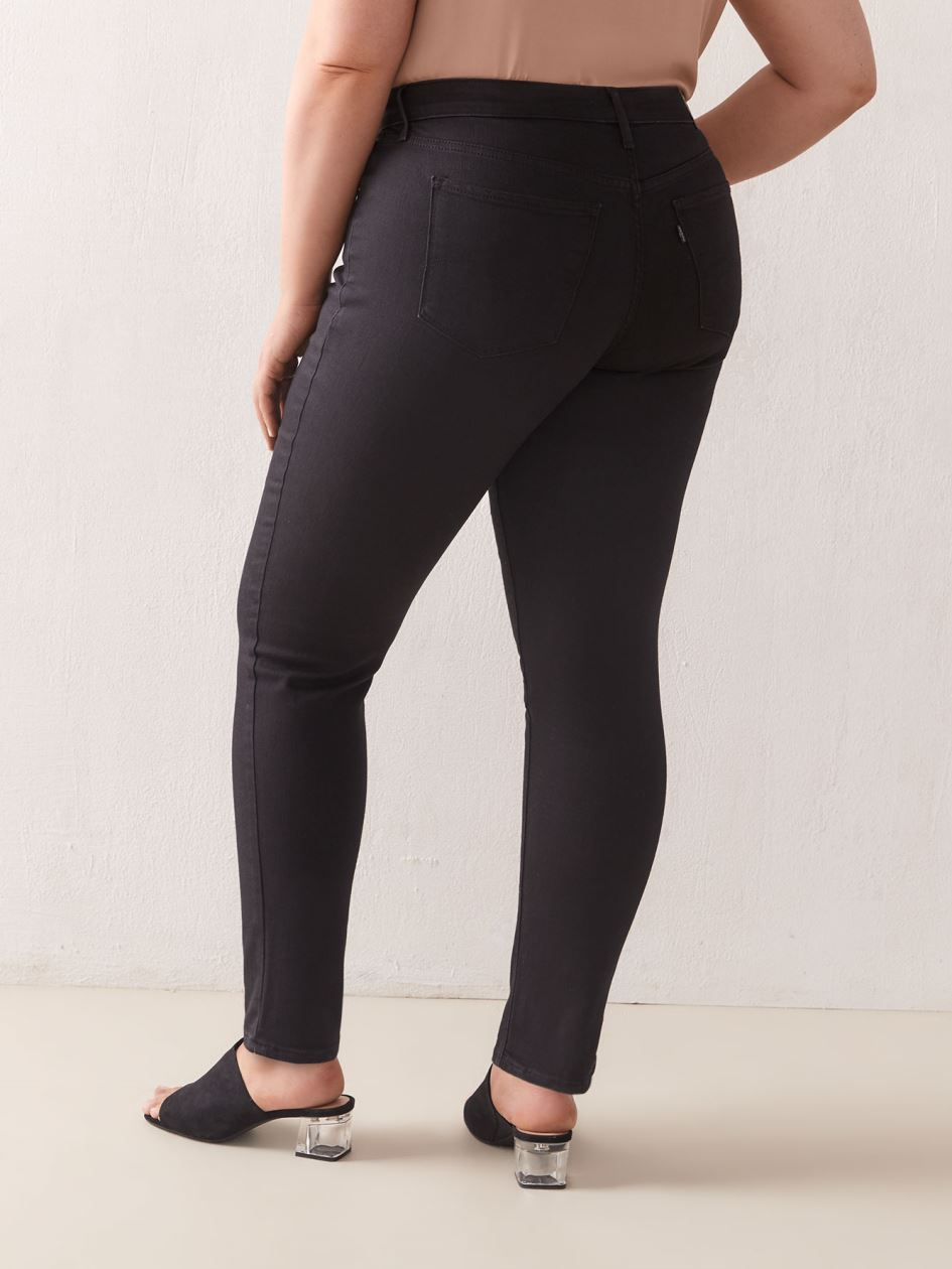 Stretchy 311 Shaping Skinny Black Ankle Length Jean - Levi's Premium