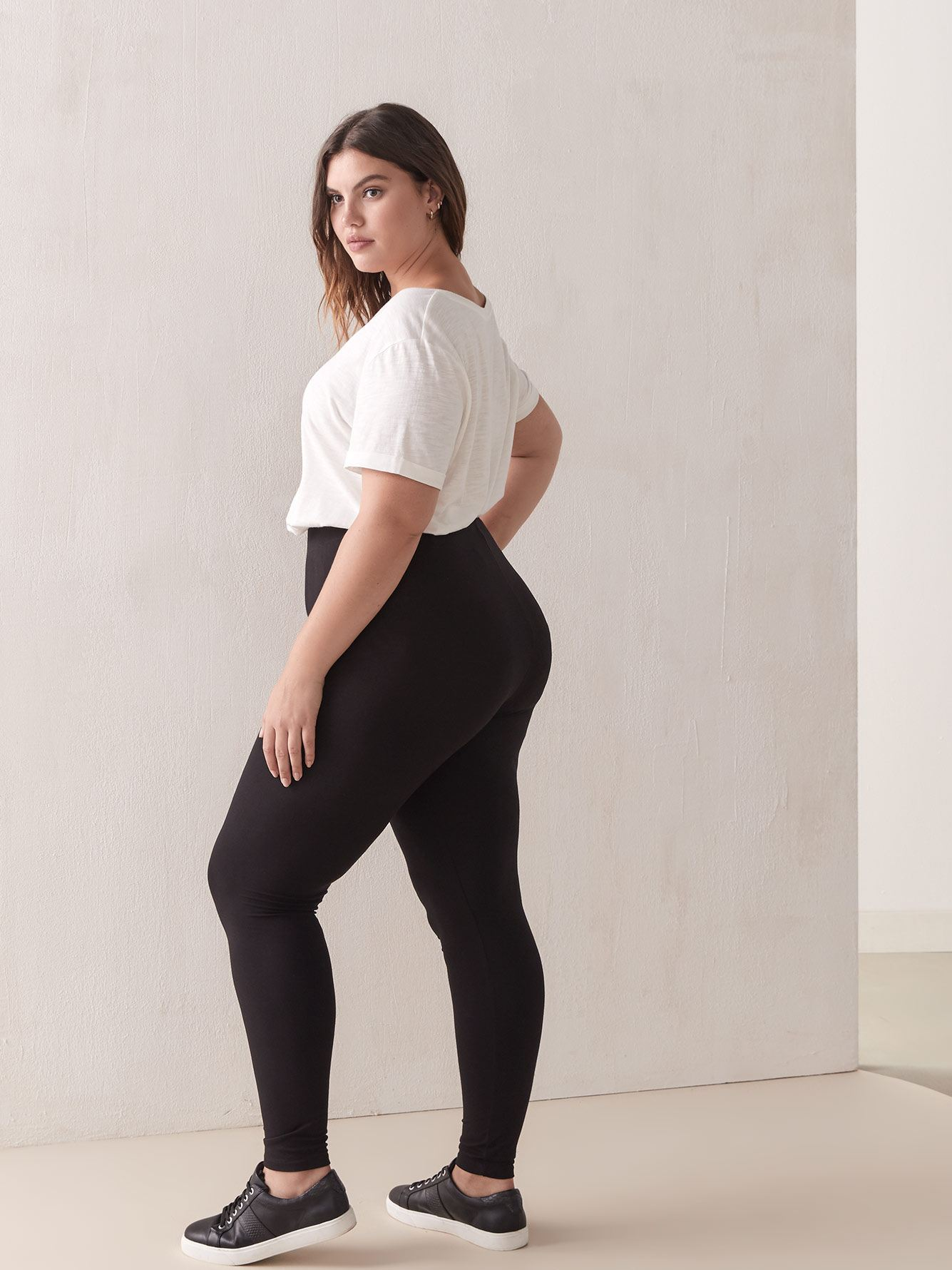 Wide Waistband Basic Legging - Addition Elle