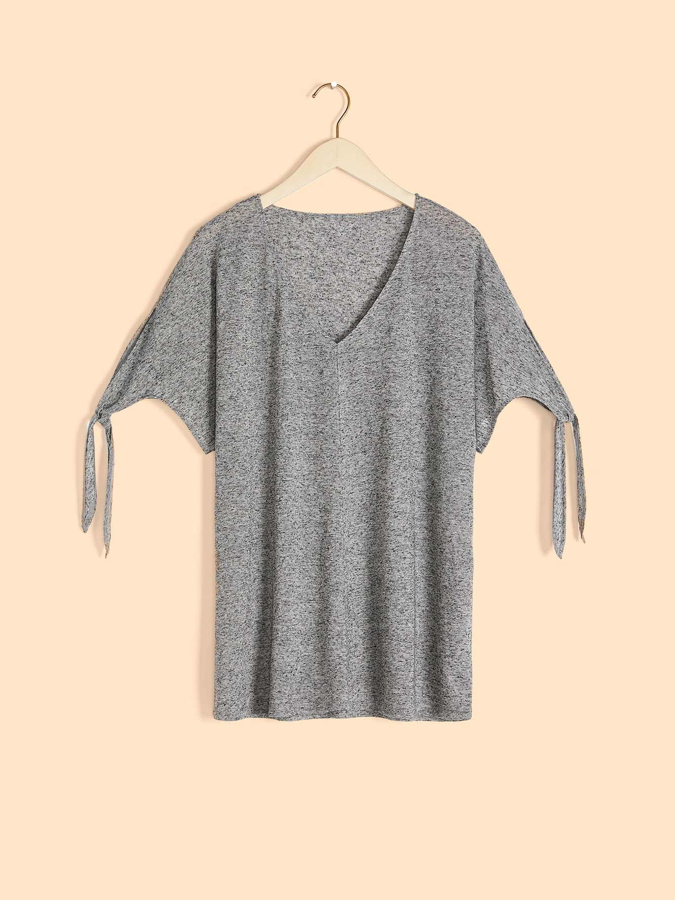 Solid Knotted Sleeve T-Shirt - In Every Story