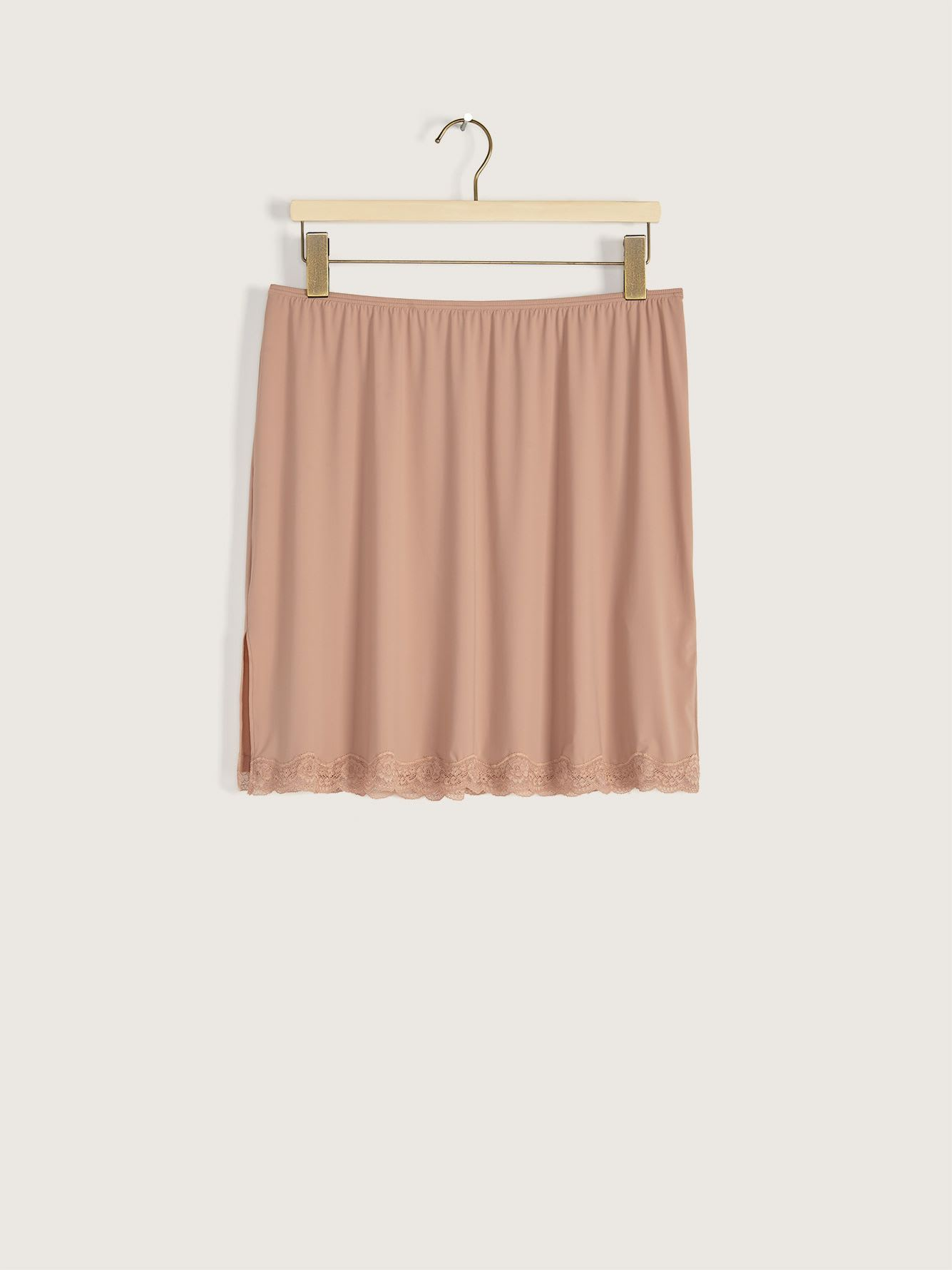 Half Slip Skirt with Lace Trim - Addition Elle