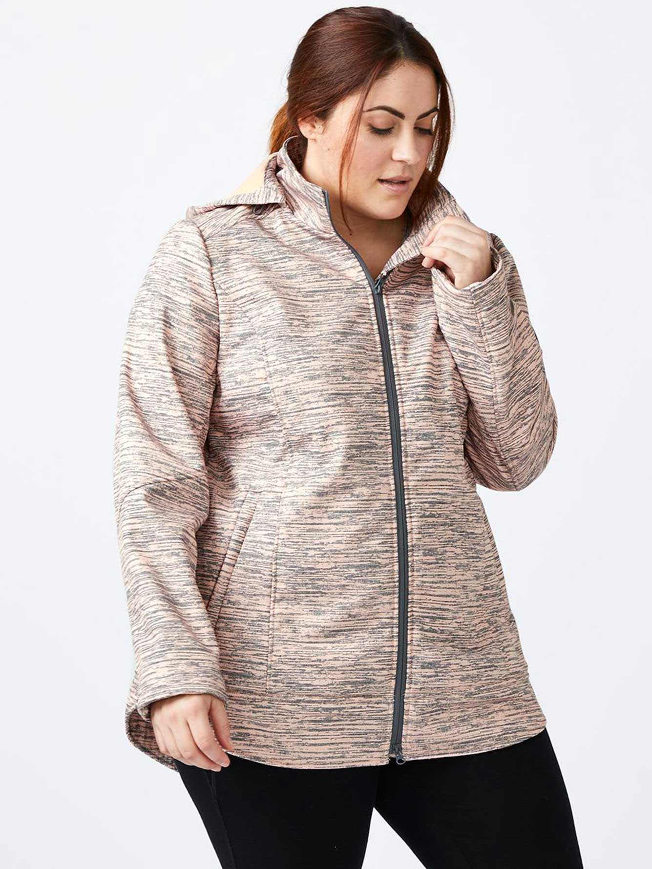 ActiveZone - Plus Size Hooded Soft Shell Jacket