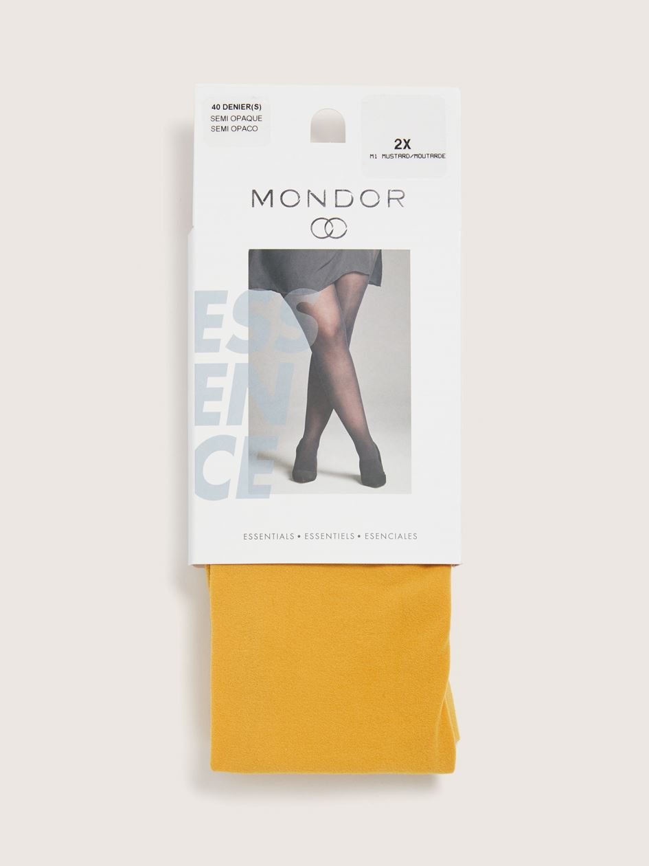 40D Microfiber Tights with Sewn-In Panel - Mondor