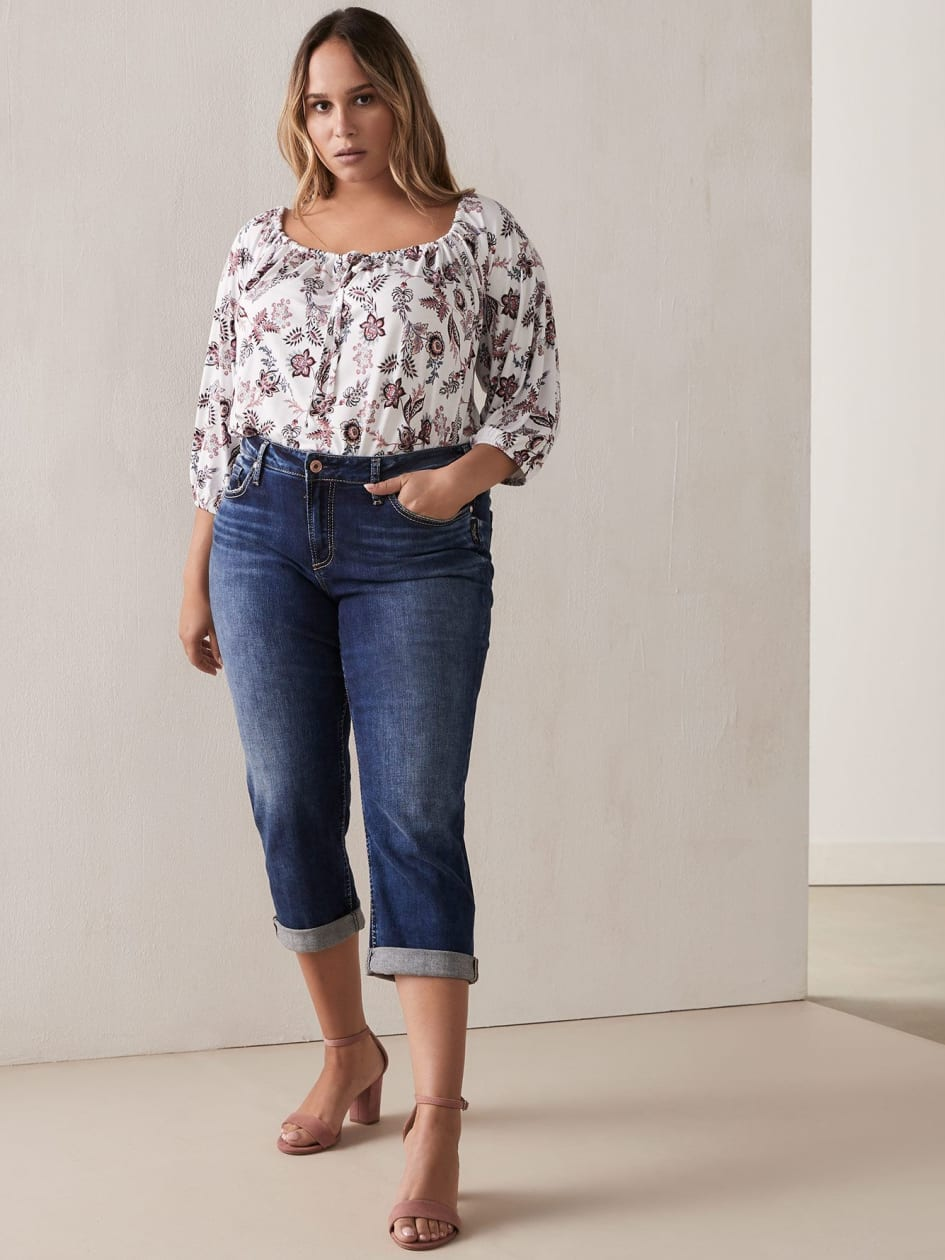 c8a5b320686 Off-the-Shoulder Peasant Top with 3 4 Balloon Sleeves