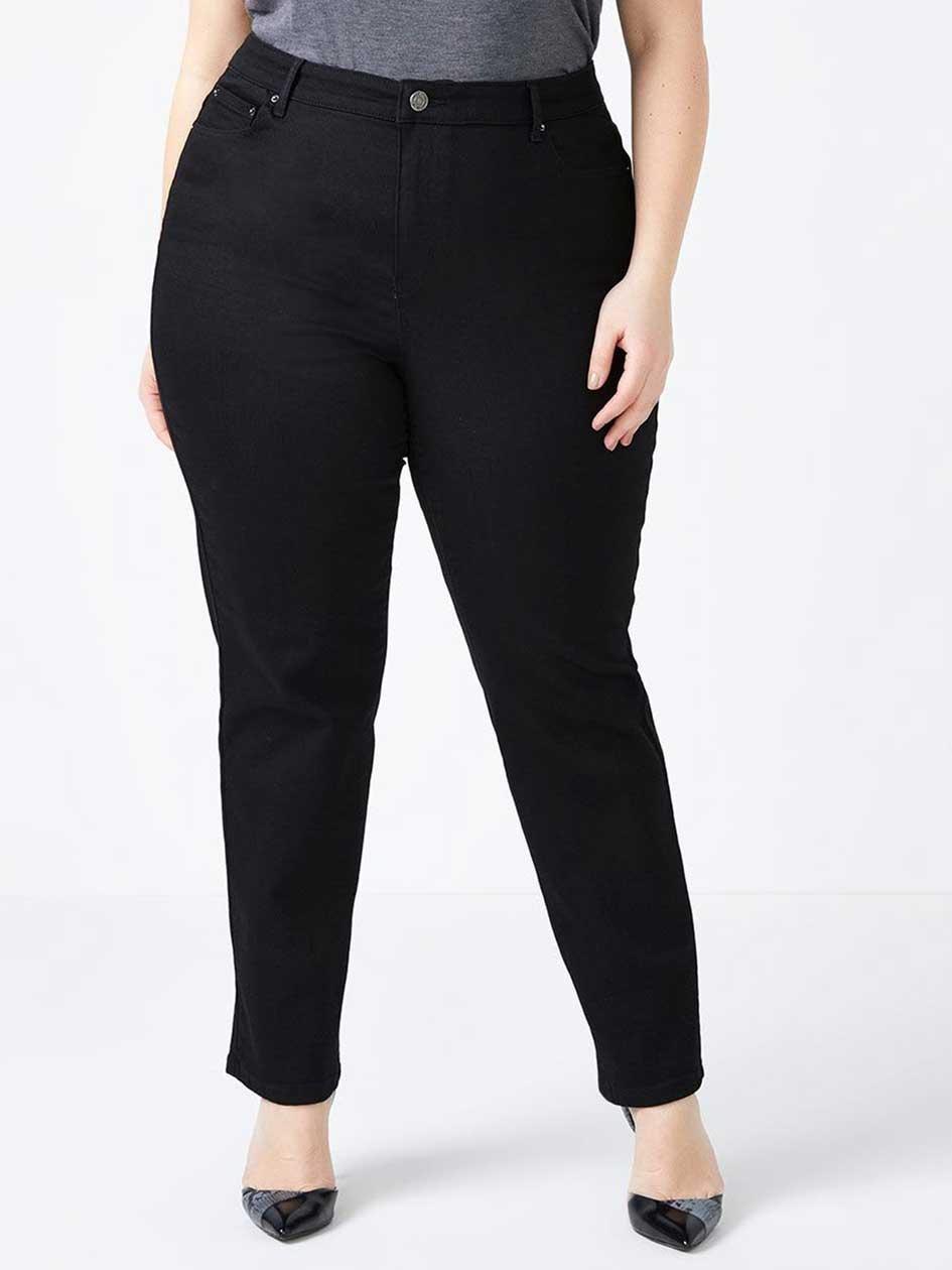 Straight Fit Straight Leg Black Jean - d/C JEANS