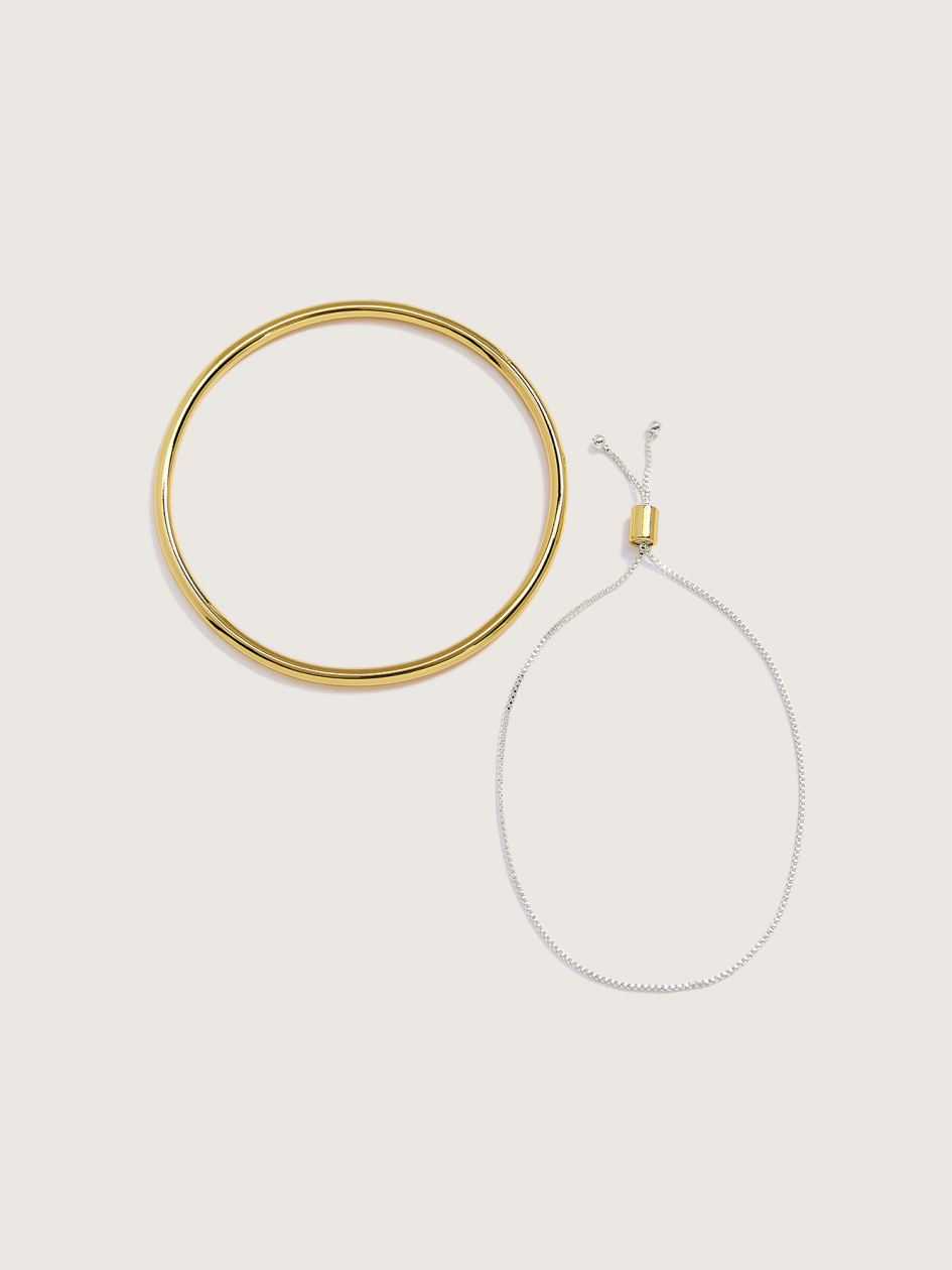 Pull and Bangle Bracelets, 2-Pack - Addition Elle