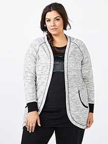 Athleisure - Open Plus-Size Cardigan