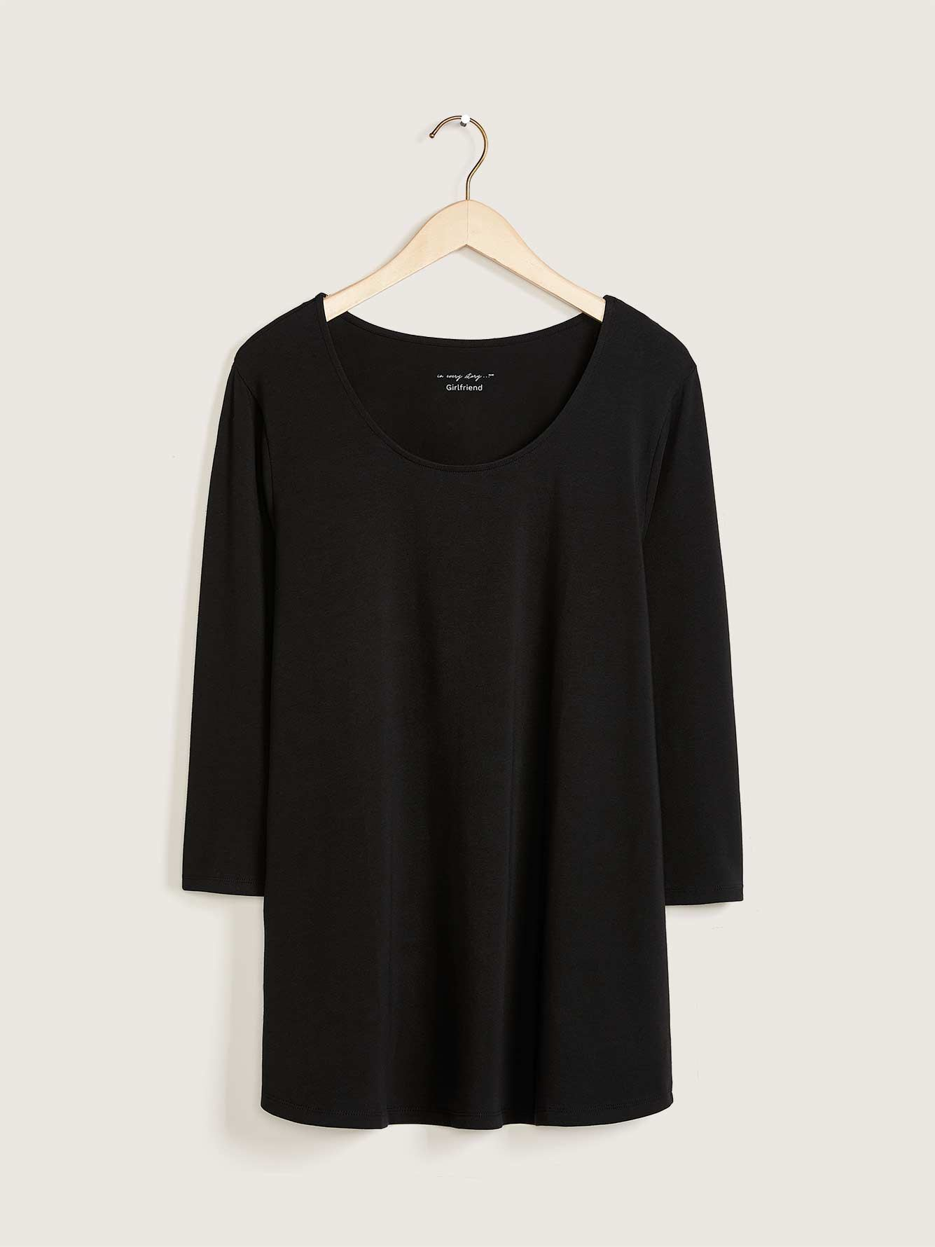3/4 Sleeve Solid Basic Top - In Every Story