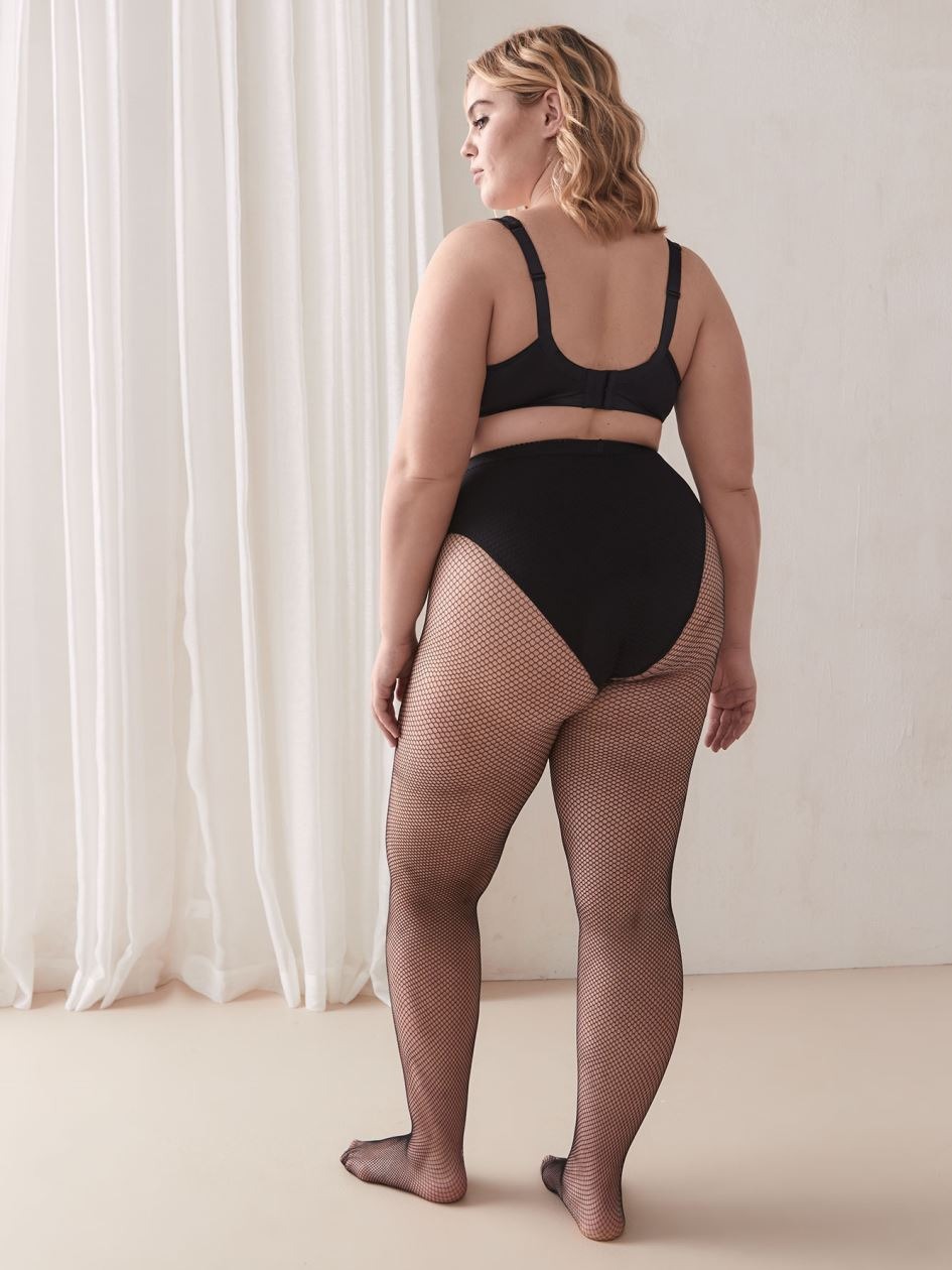 Fishnet Tights with Waistband - Addition Elle
