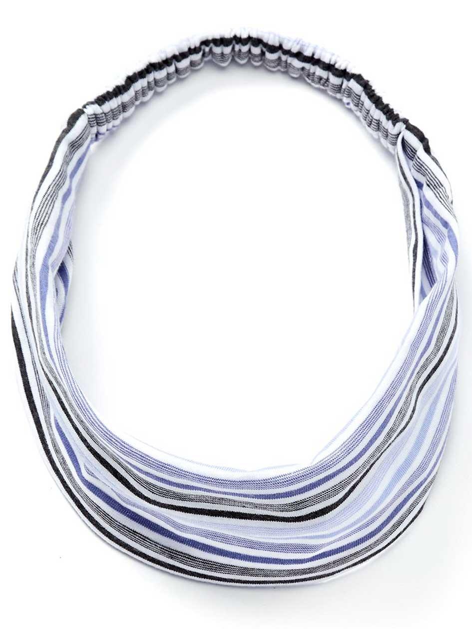 Striped Head Band with Elastic - ti Voglio