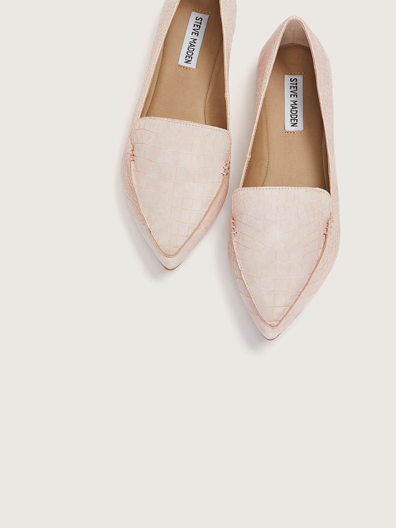 Wide Width Pointed Toe Croco Loafer - Steve Madden