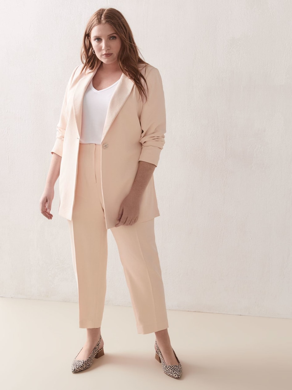 High-Waist Cropped Pants - Addition Elle