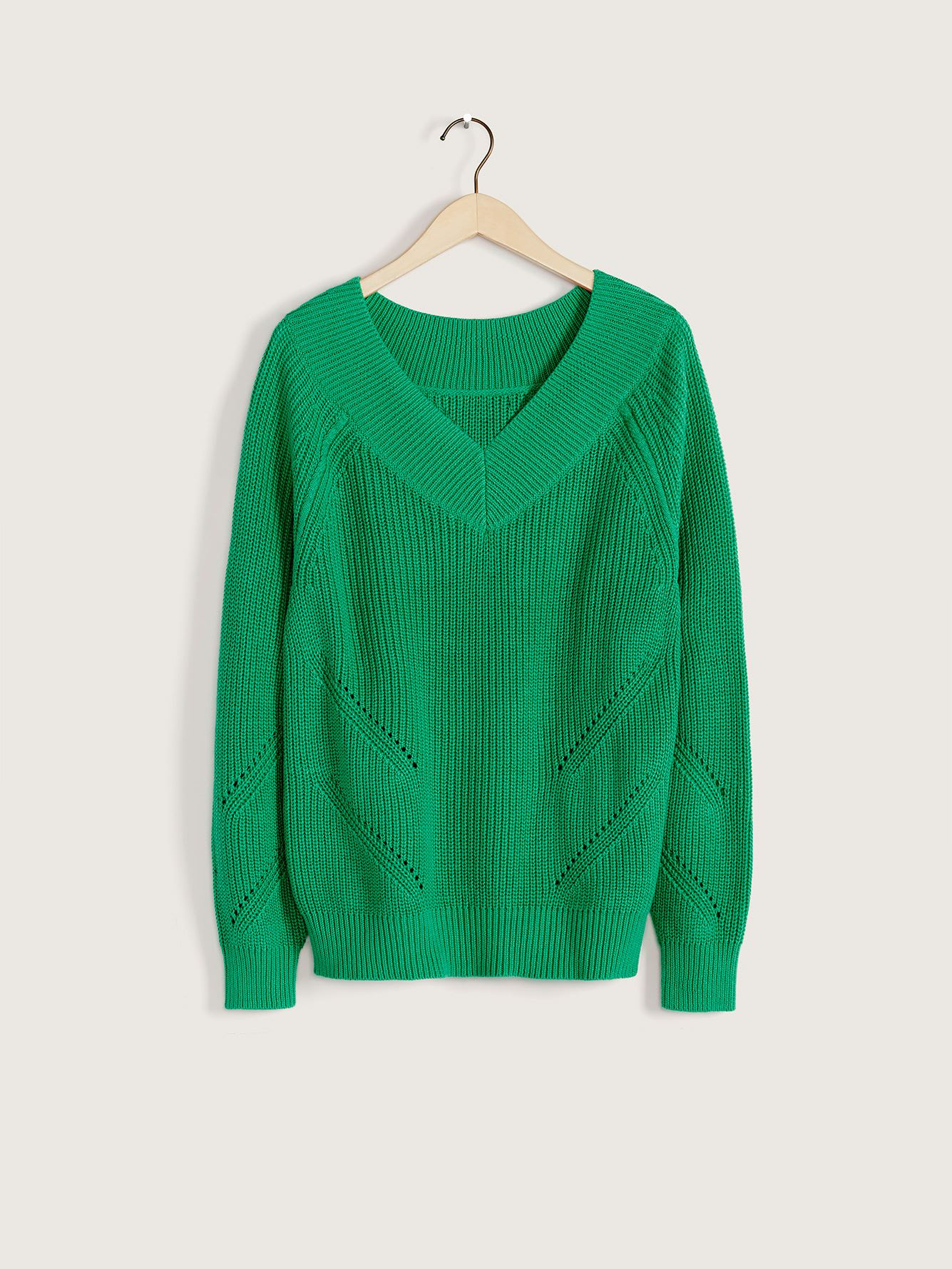 Wide V-Neck Sweater - Addition Elle