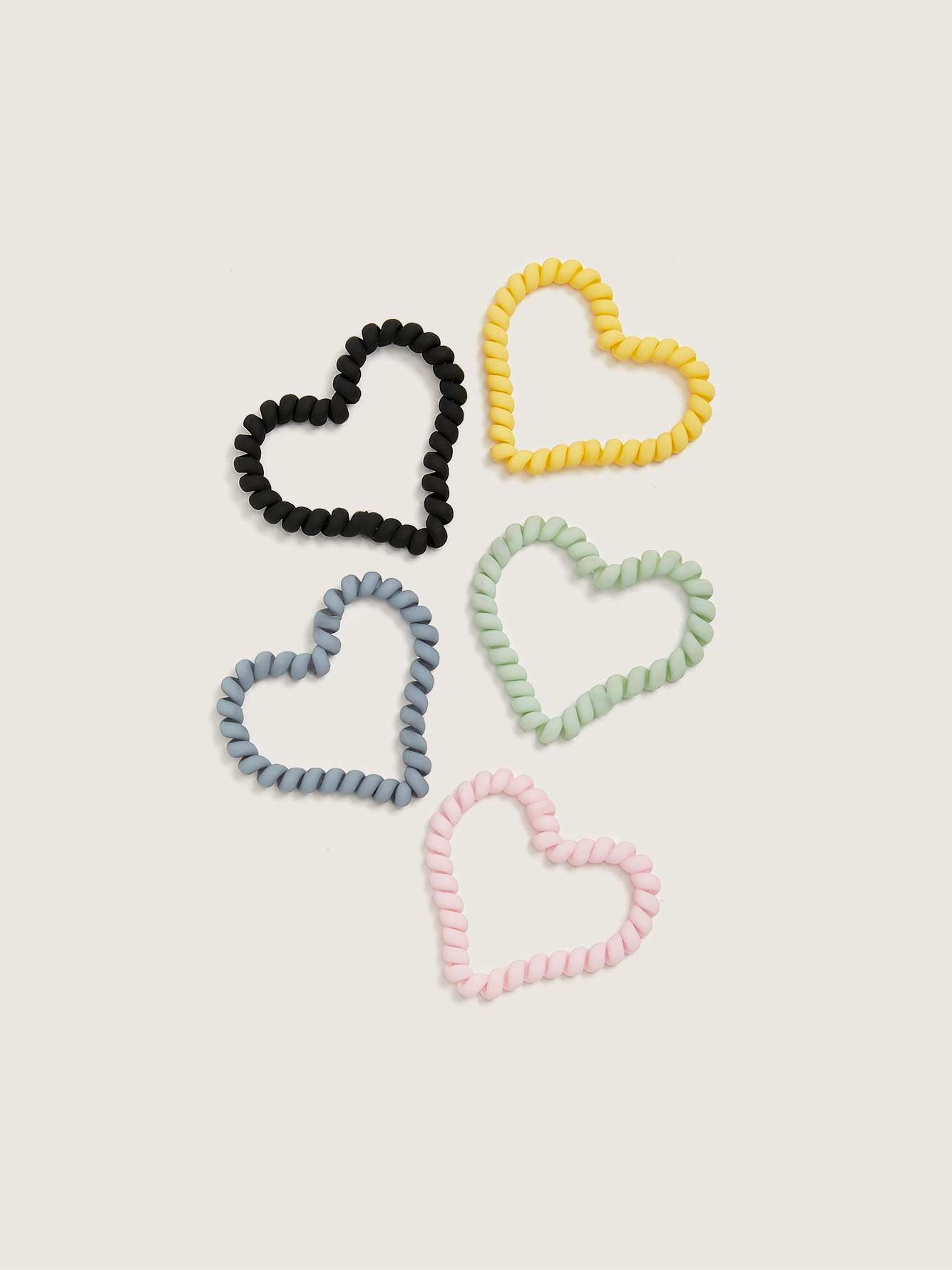 Heart-Shaped Hair Coils, 5-Pack - Addition Elle
