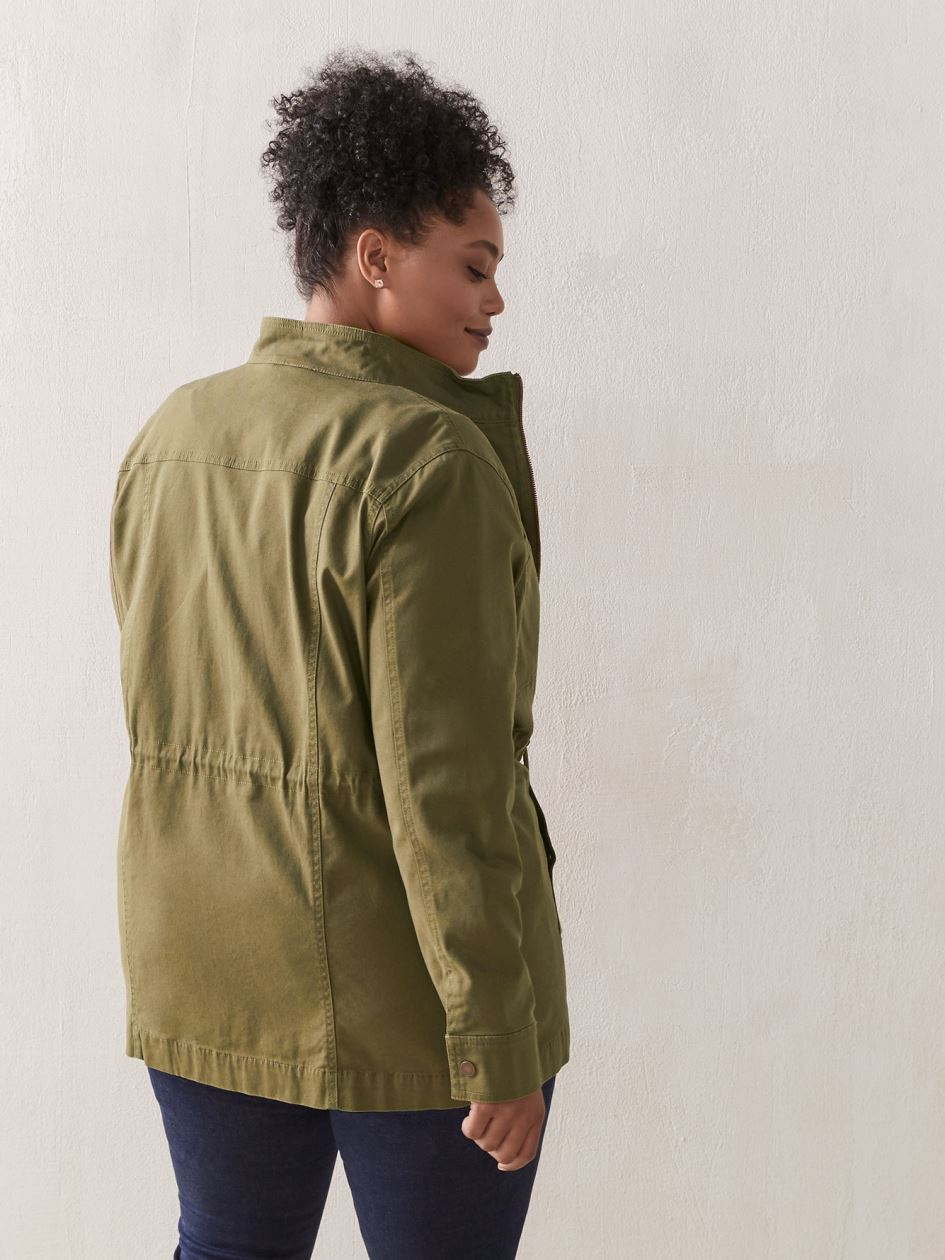 Mid-Length Canvas Utility Jacket - In Every Story