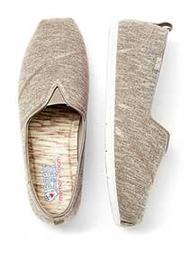 Wide-With Twill Slip-On Shoes - BOBS from Skechers