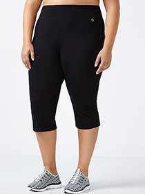 Essentials - Plus-Size Basic Yoga Capri