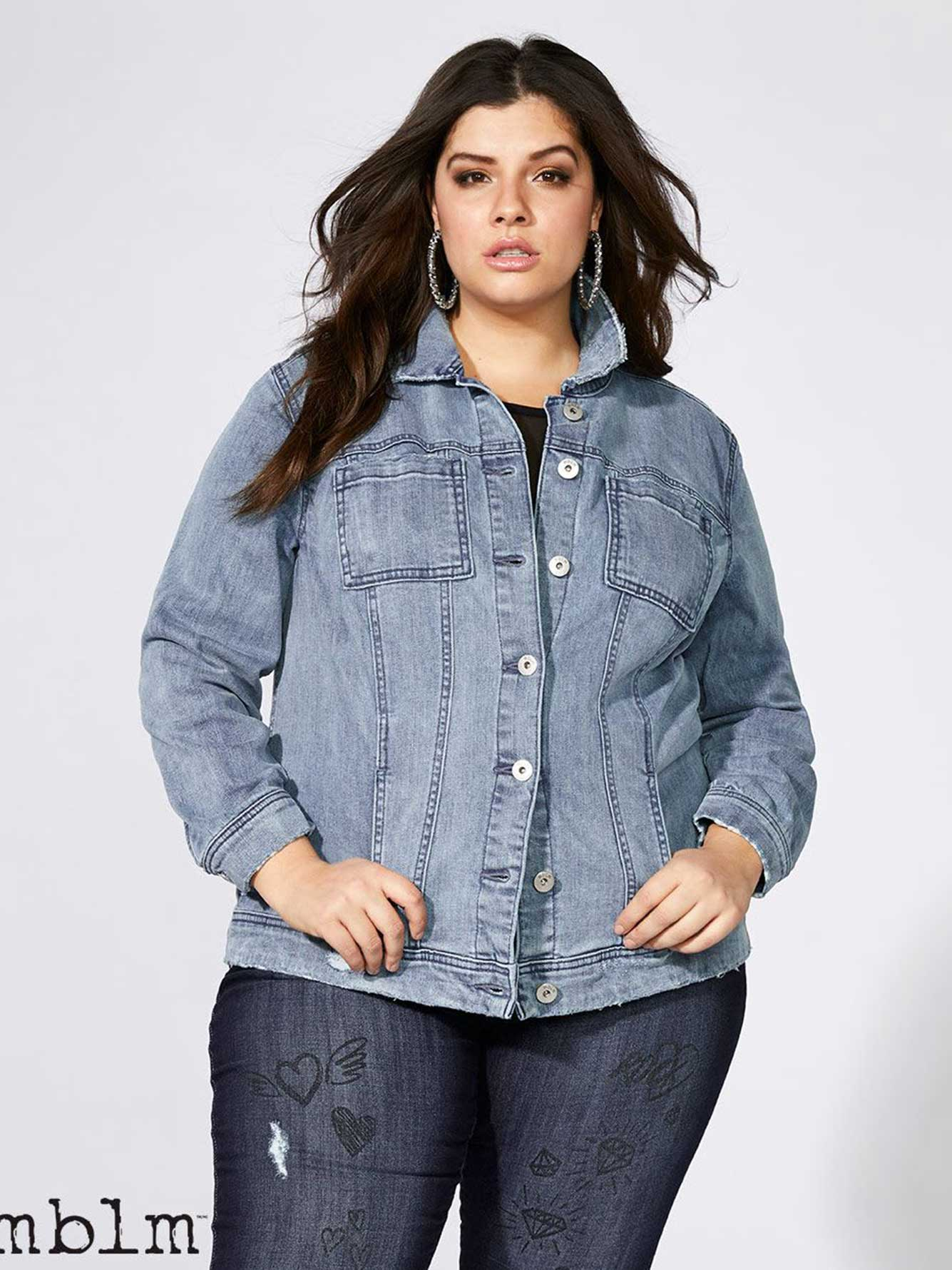 Denim Jacket with Lace-Up Back - mblm