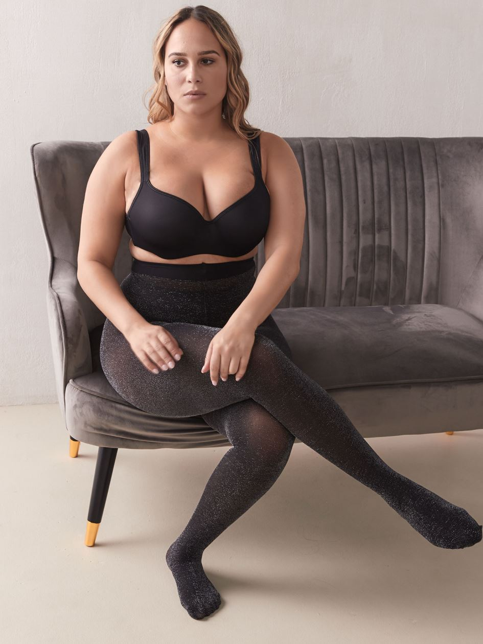 Silver Lurex Tights - Addition Elle