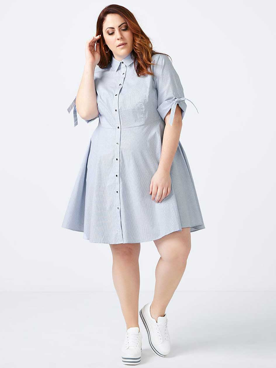 Fit and Flare Shirt Dress - In Every Story