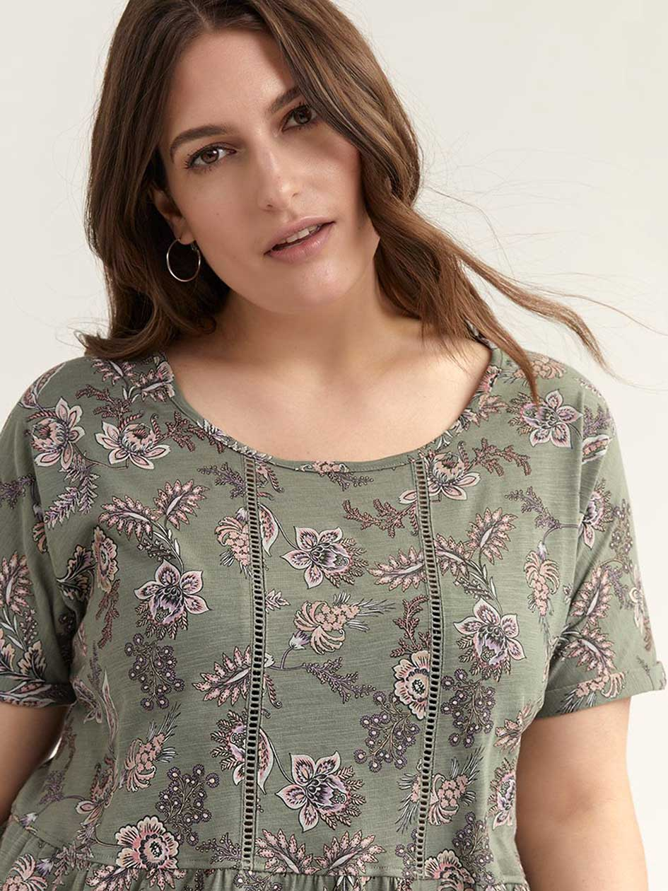 Floral Peplum Top - In Every Story
