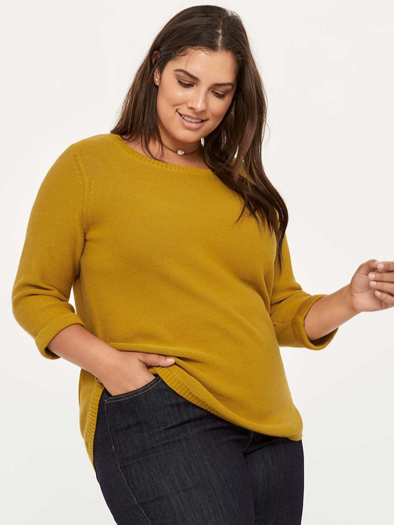 5bf50629e 3/4 Sleeve Cotton Sweater - In Every Story | Penningtons
