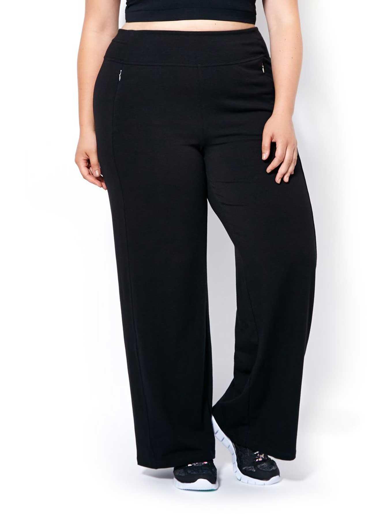 0c5e02adb55704 Essentials - Plus-Size Wide Leg Yoga Pant | Penningtons