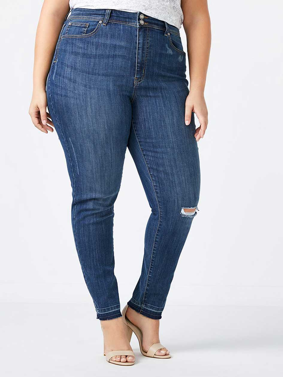 Petite Slightly Curvy Fit High Rise Skinny Jean - d/c JEANS