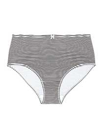 Striped Cotton Brief Panty - ti Voglio