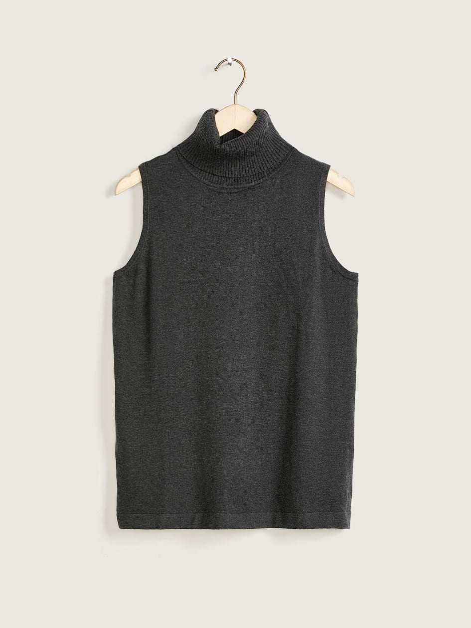 Solid Turtleneck Tank Top - Addition Elle