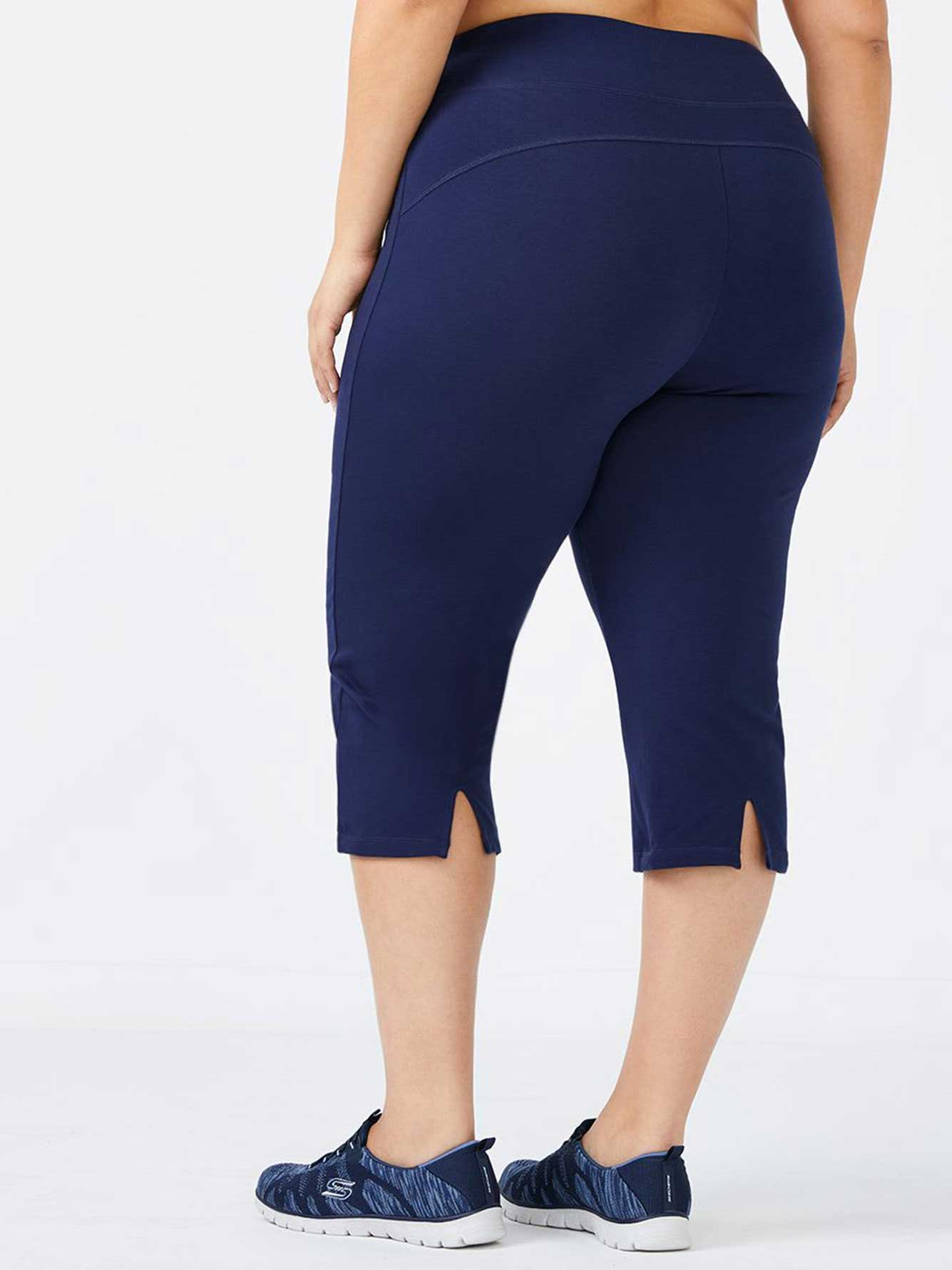 Plus-Size Basic Yoga Capri - ActiveZone